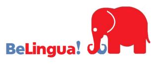 Logo BeLingua Academia de Idiomas en Málaga