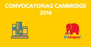 Convocatorias Cambridge 2016 Facebook