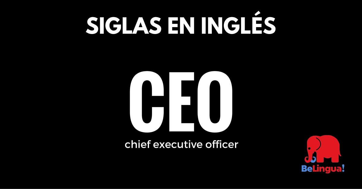 Siglas en inglés - Academia de Idiomas BeLingua