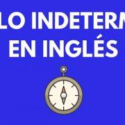 Artículo indeterminado en inglés
