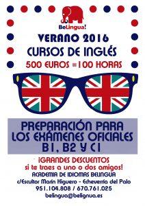 Cursos intensivos de inglés en Málaga - Cartel