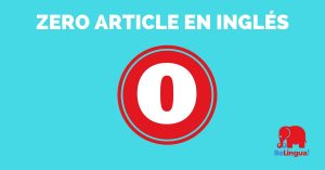 Zero article en inglés - Facebook
