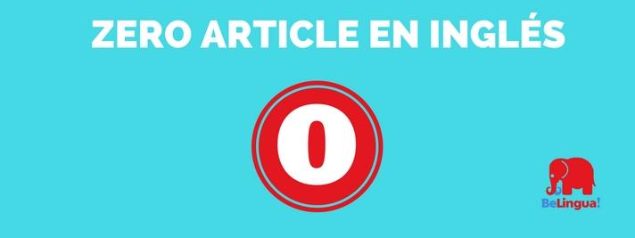 Zero article en inglés