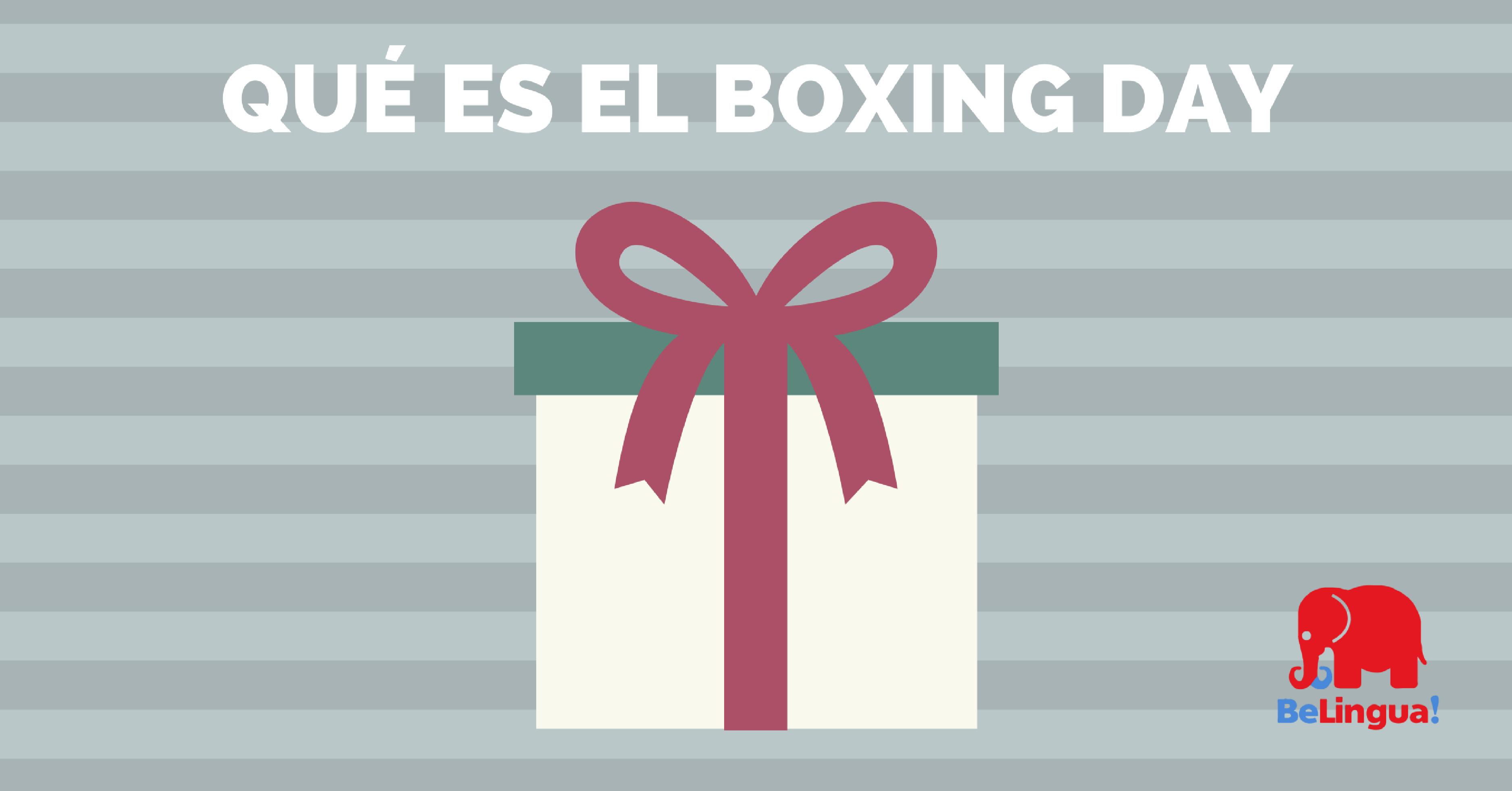 Qué es el Boxing day