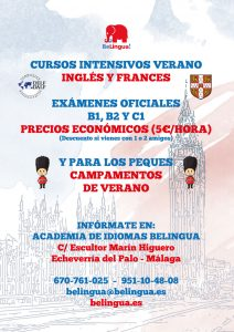 Cartel Cursos idiomas verano Málaga 2017