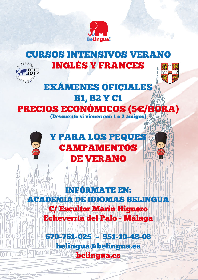 Cursos idiomas verano Málaga 2017