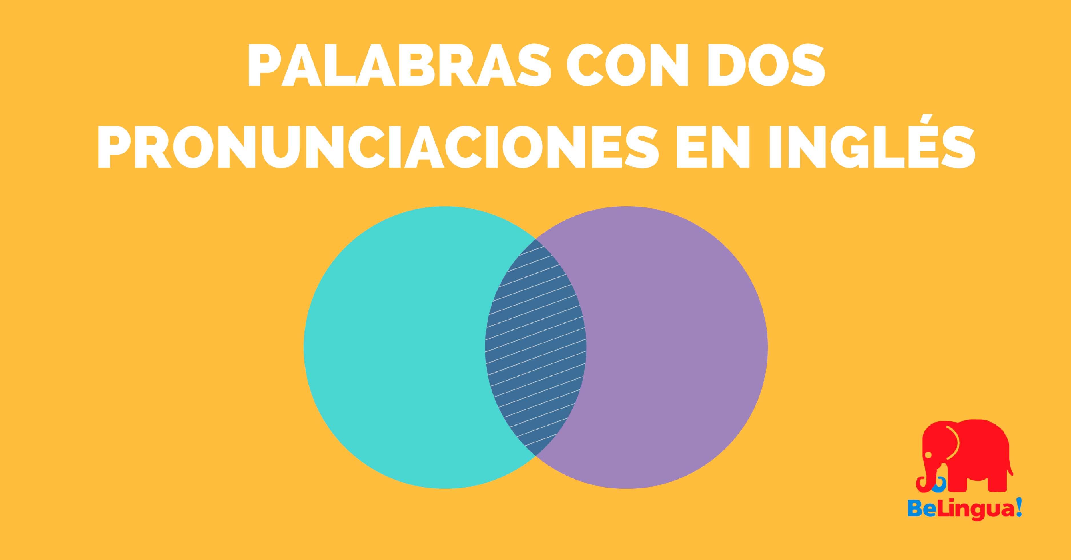 Palabras con dos pronunciaciones en inglés - Academia BeLingua