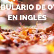Vocabulario de otoño en inglés