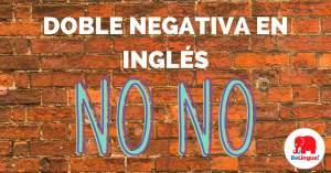 Doble negativa en inglés - Facebook
