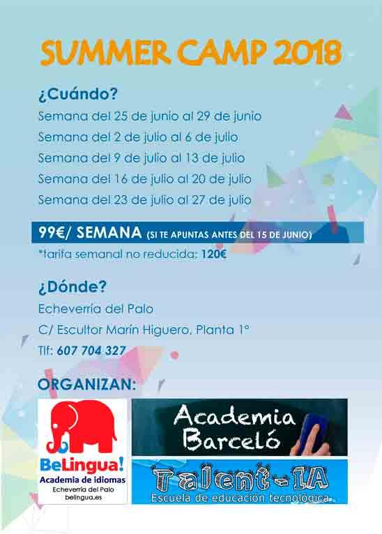 Campamento de verano en Málaga 2018 Cartel 2