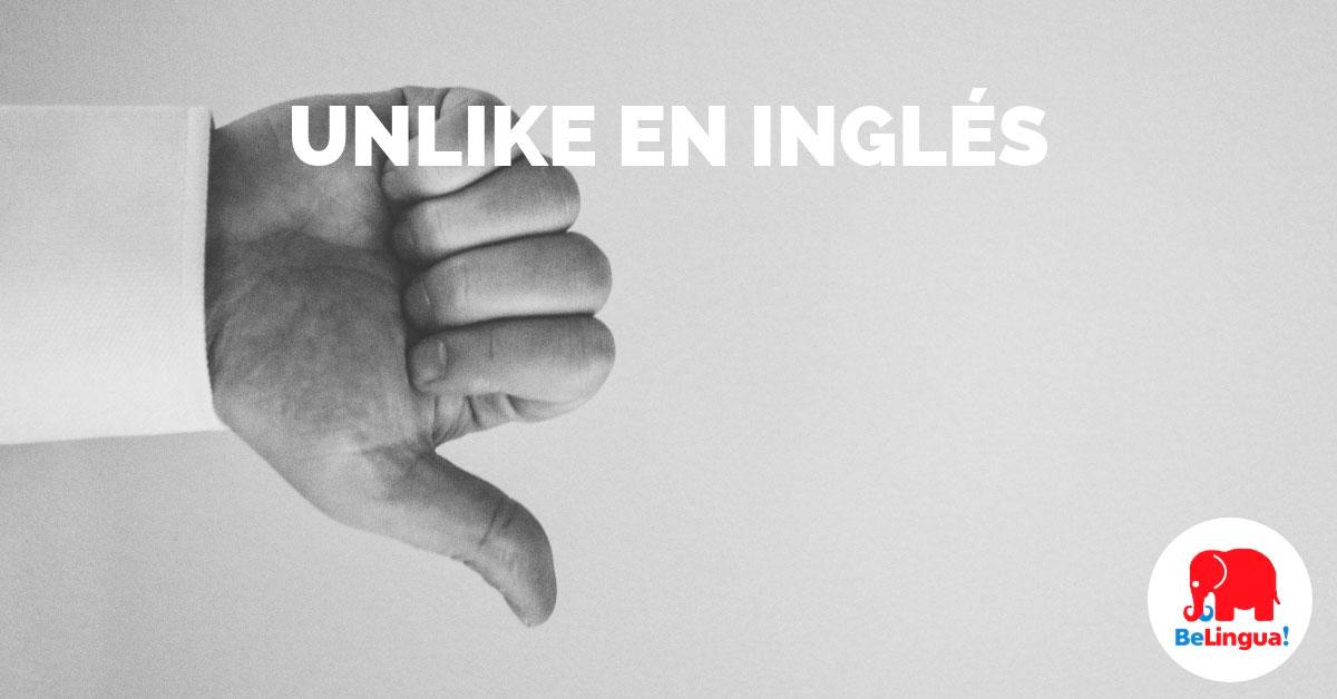 Unlike en inglés - Facebook