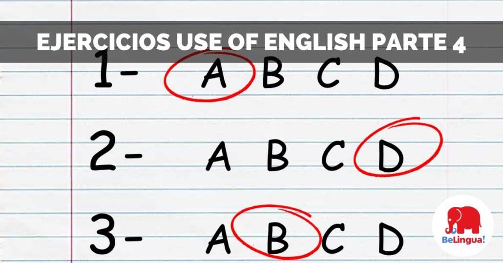 Ejercicios Use of English parte 4 facebook