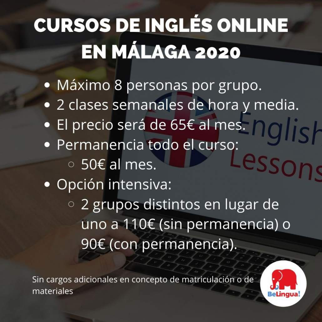 Cursos de inglés online en Málaga 2020