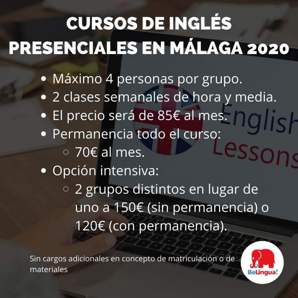 Cursos de inglés presenciales en Málaga 2020