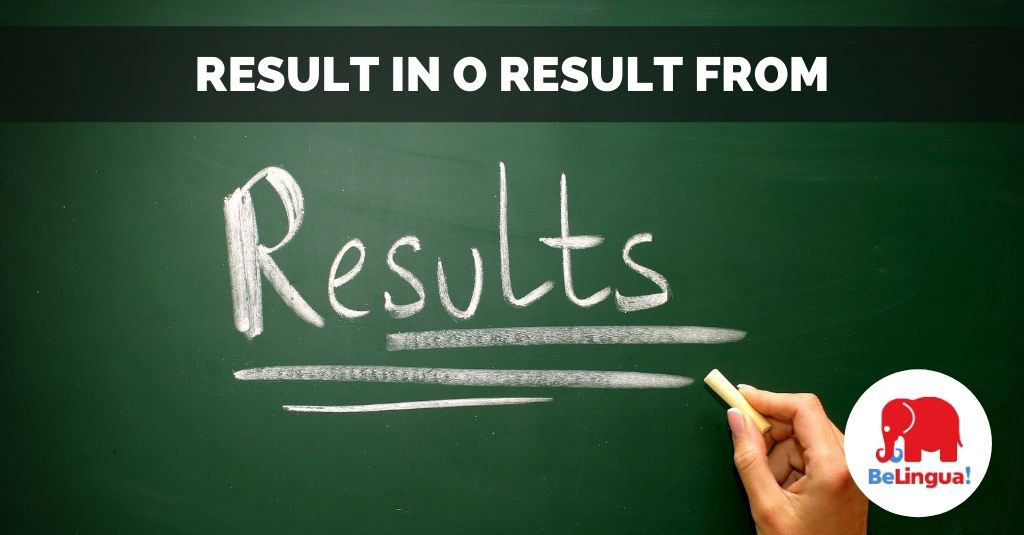 Result in o result from facebook