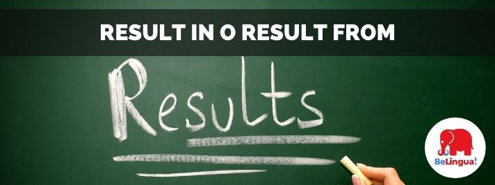Result in o result from