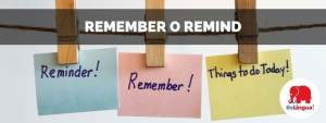 Remember o remind