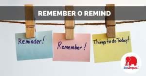 Remember o remind facebook