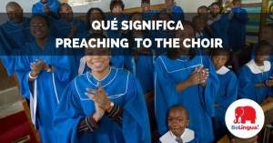 Qué significa preaching to the choir facebook